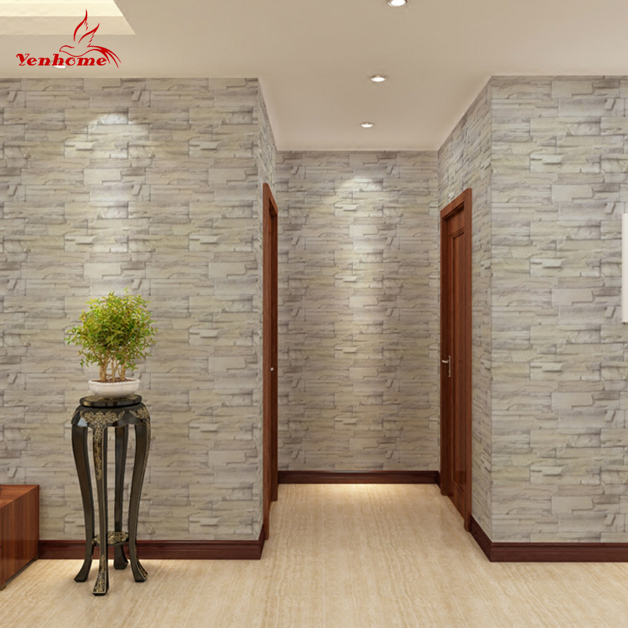1M Wallpaper Self-adhesive Sticker Living Room Bedroom Background Wall Decoration Stone Pattern Sticker Renovation Wall Stickers