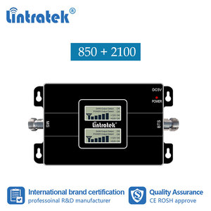 Image 1 - Lintratek 2G Gsm Cdma 850 3G 2100 Mhz Wcdma Umts 2100 Mhz Dubbele Band Mobiele Telefoon Signaal Booster verbeteren Repeater Versterker #7