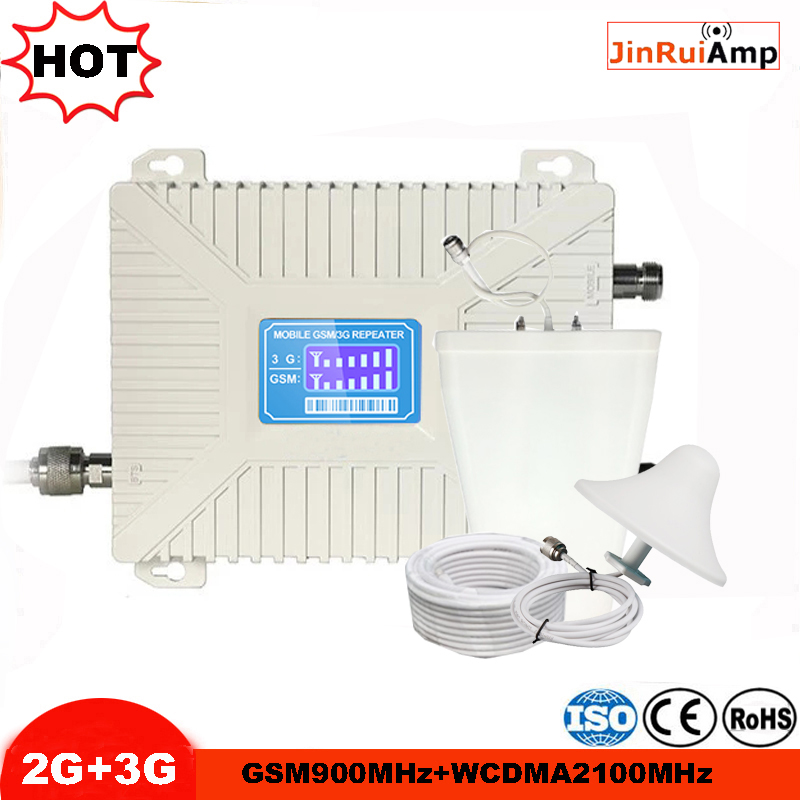 LCD Displays Cellular Signal Booster 2G 3G GSM 900 WCDMA 2100 Mhz Dual Band Mobile Phone Signal Repeater GSM UMTS