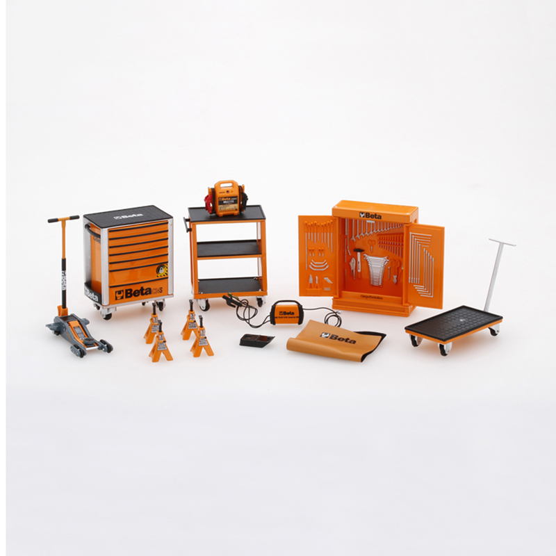 1/18 1/43 Car Model Repair Workshop Repair Room Simulation Scene Toolbox Diecast Alloy Car Model Accessories Fans Gift Collect