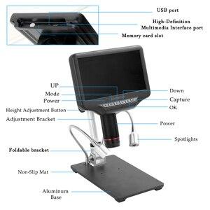 Image 4 - 3D ดิจิตอลกล้องจุลทรรศน์ Andonstar AD407 หน้าจอ 7 นิ้ว 270X1080 P HD มัลติมีเดียอินเทอร์เฟซกล้องจุลทรรศน์สำหรับซ่อม Soldering