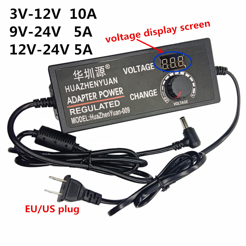 adjustable universal <font><b>ac</b></font> dc <font><b>power</b></font> <font><b>adapter</b></font> 220v to 12 5 volt 18v multi voltage <font><b>9v</b></font> <font><b>power</b></font> supply <font><b>ac</b></font>/dc 10A 220v to 12v 24 v adaptor image
