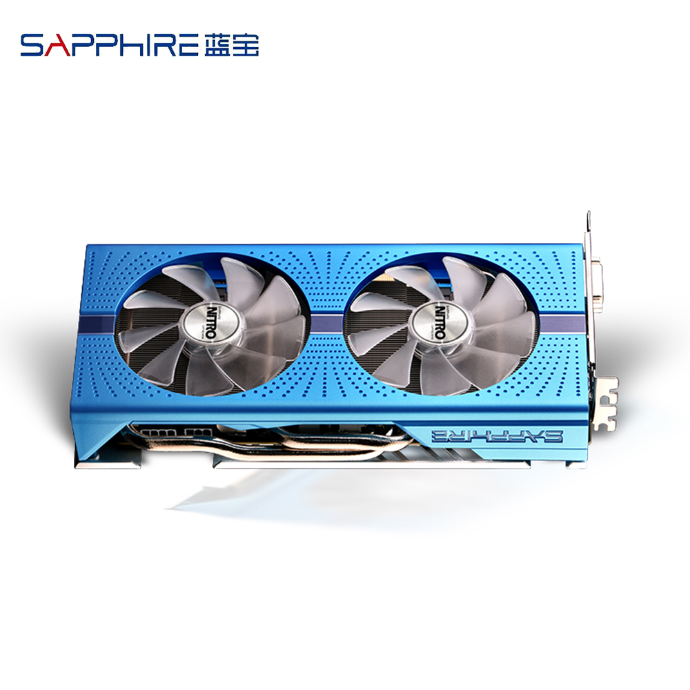 SAPPHIRE AMD Radeon NITRO+ <font><b>RX</b></font> <font><b>580</b></font> Graphic Card <font><b>GDDR5</b></font> 256bit 8GB PCI Desktop PC Gaming Video Cards For Gaming Computer Used Cards image