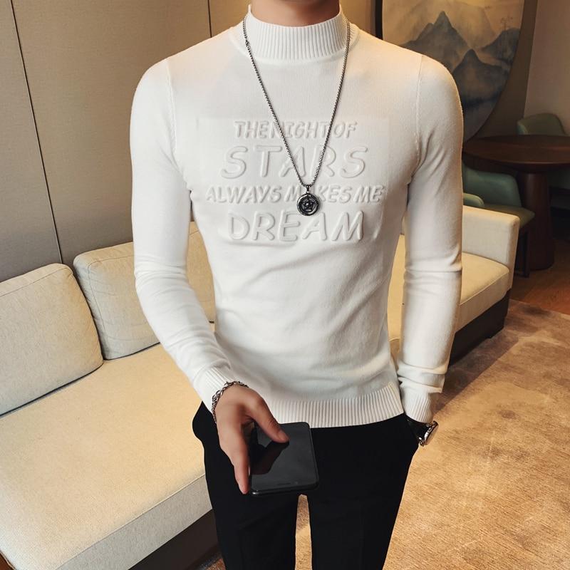 Winter High Neck Thick Warm Sweater Men Turtleneck Brand Men Sweaters Slim Fit Pullover Men Knitwear Male High Collar Noel Kazak