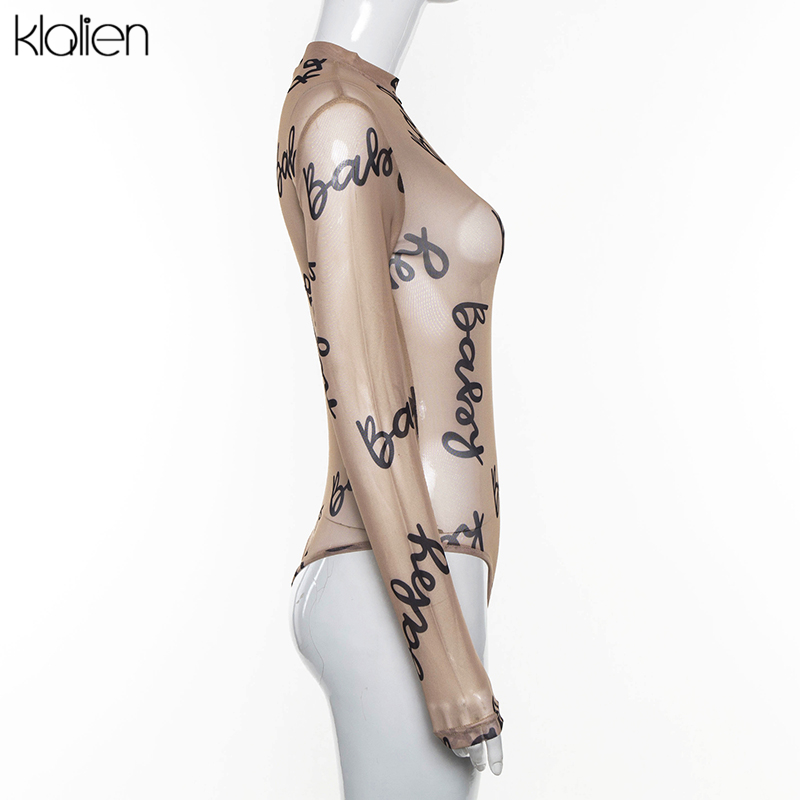 H0b8ced931251423a87c95436d3d047f7O - KLALIEN Summer Sexy Letter Print Transparent Mesh Bodysuits Long Sleeve See Through Baby Bodycon Rompers Women Jumpsuits
