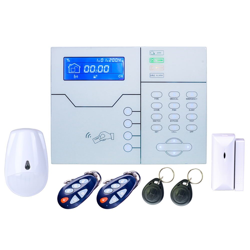 Focus English Or French Voice Prompt RJ45 Ethernet TCP IP Alarm GSM Alarm System WebIE And App Control Smart Home Security Alarm