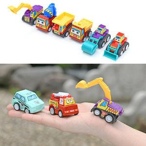 Image 3 - Samochody wyścigowe zestaw samochód wyścigowy ciężarówka pojazd Mini mały samochód z napędem Pull Back zabawki zabawka świąteczna pudełko dla chłopców prezent na boże narodzenie 6 sztuk маленькие машинки