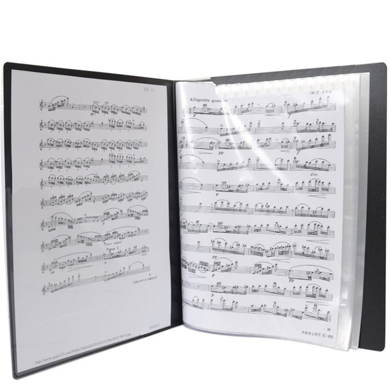 Music File Score Book 50 Sheets Insert-type Folder File A4 Folder Music Score Book Folders Document Organizer Storage File