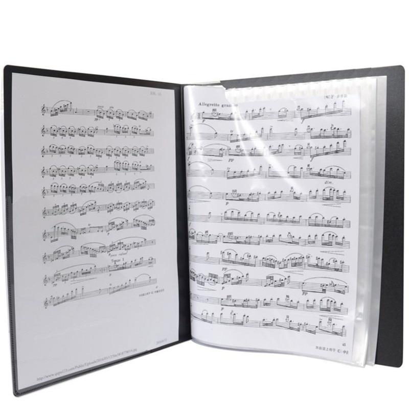 Music File Score Book 50 Sheets Insert-type Folder File A4 Folder Music Score Book Folders Document Organizer Storage File
