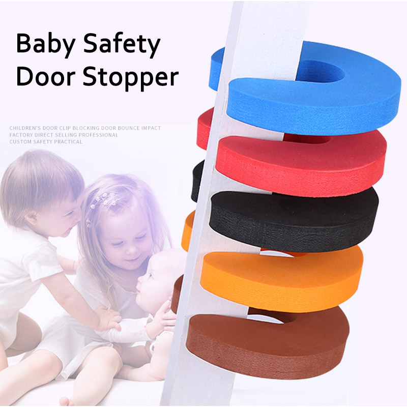 Herbabe 5Pcs/lot Baby Safety Protection Cute Animal Security Door Stopper Newborn Baby Card Lock Child Cabinet Locks Protection