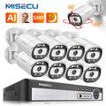 MISECU H.265 5MP POE IP CCTV Камера безопасности Системы комплект открытый герметизирующая ptfe-лента для Камера Смарт AI человека обнаружены цветной ноч...