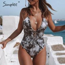 One-Piece Swimwear Swimsuit-Strap Women Bodysuit Monokini Push-Up Ruffle Female Chic