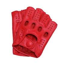 New Arrival Mens Leather Gloves Driving Unlined Goatskin Hal