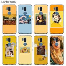 Van Gogh Mona Lisa Art ความงามซิลิโคนสำหรับ LG G6 G7 G8 ThinQ Q51 Q61 Q60 Q70 K40 K50s k51s K61 TPU Soft CLEAR COVER(China)