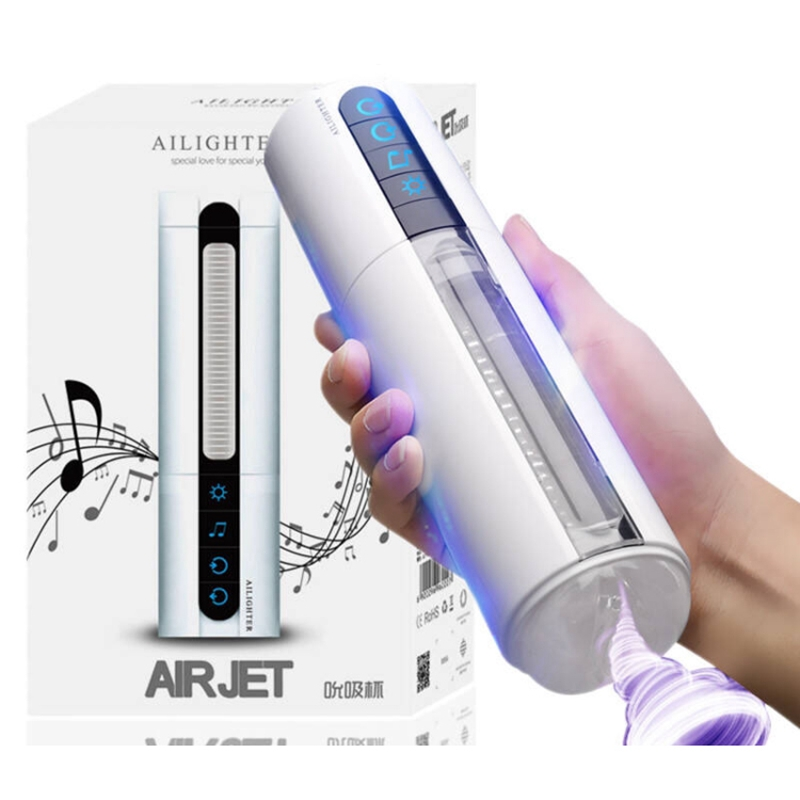 Intelligent Voice Interactive Heating Male Masturbator Cup Blow Job Sucking Sex Machine Induced Artificial Vagina Vibration image