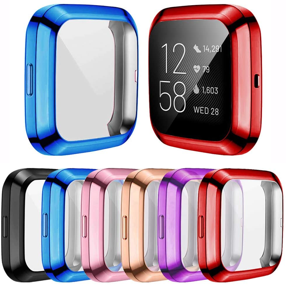 Мягкий чехол из ТПУ Для Fitbit Versa1 Versa 2 versa lite, водонепроницаемый чехол для часов, Защита экрана для Fitbit Versa Lite