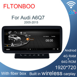 Android biult in wireless carplay 8 core 1920 x720 Car GPS Navigation Car Multimedia player for audi A6 A6L Q7 C6,4G ram,64G ROM