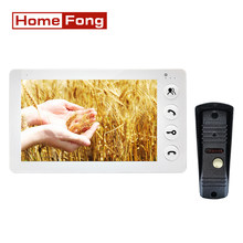 Homefong 7 Inch Video Intercom Doorbell Camera Door Phone System Unlock Monitoring Day Night Vision Dual Way Talk