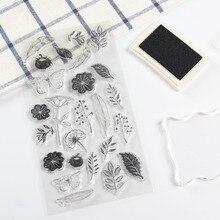 Stamp for Scrapbooking Stationery Kids Gift Flower Transparent DIY Basic PVC Vintage