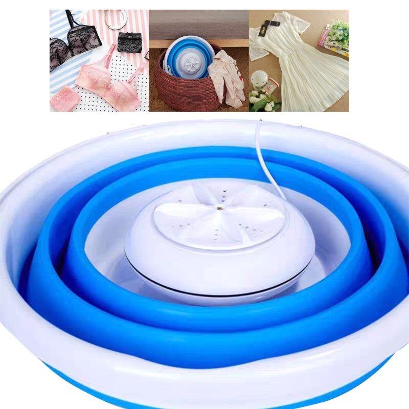 Portable Washing Machine Laundry Washer USB Rotating Home Travel Motorhome