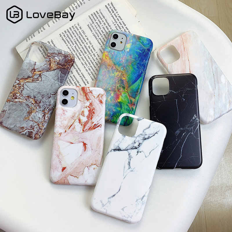 Lovebay Marble Texture Case For iPhone 11 Pro X XR XS Max 7 8 6 6s Plus Silicone Phone Cases Retro Graffiti Soft IMD Back Cover