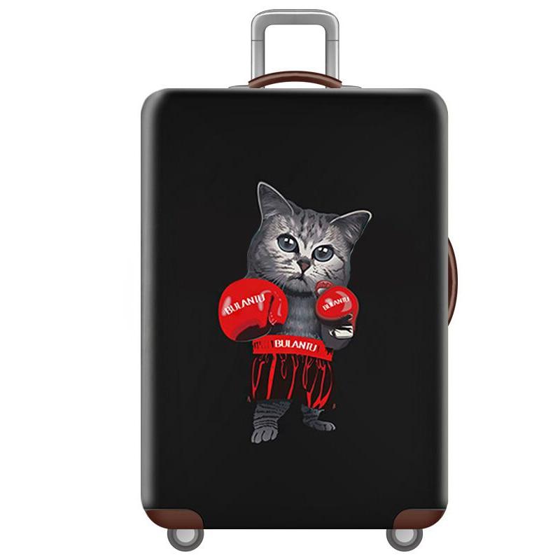 HMUNII карта мира, дизайнерский защитный чехол для багажа, Дорожный Чехол для чемодана, эластичные пылезащитные Чехлы для 18-32 дюймов, аксессуары для путешествий - Цвет: I-Luggage cover