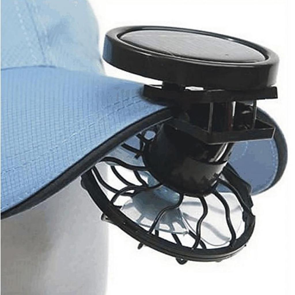 Клип на шляпу солнечный вентилятор для лета Путешествия Рыбалка солнце энергии вентиляторы