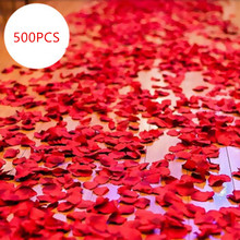 500PCS bright silk cloth simulation petals rose artificial flowers bride wedding decoration flower party