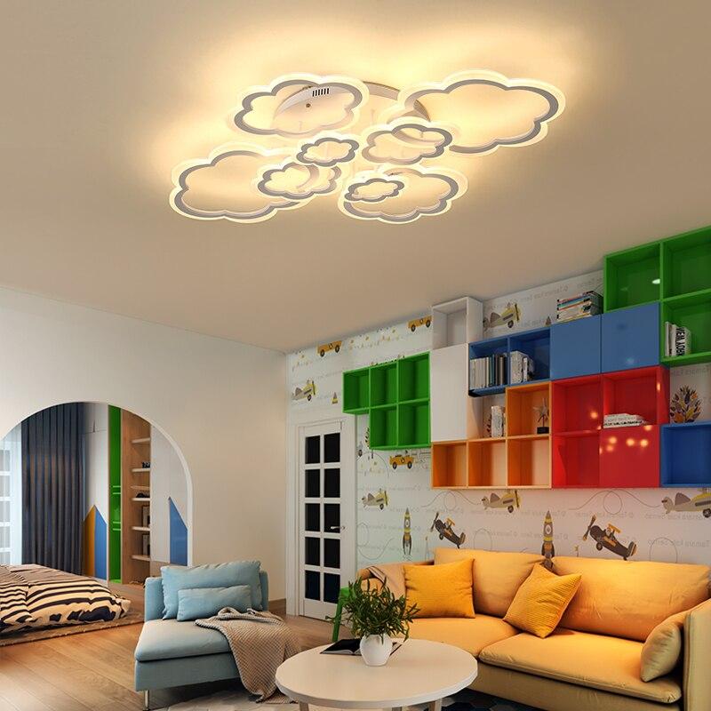 Image 5 - Horsten White Clouds High Power LED Ceiling Chandelier For Living Room Bedroom Home Modern Led Chandelier Lamp Fixture-in Chandeliers from Lights & Lighting