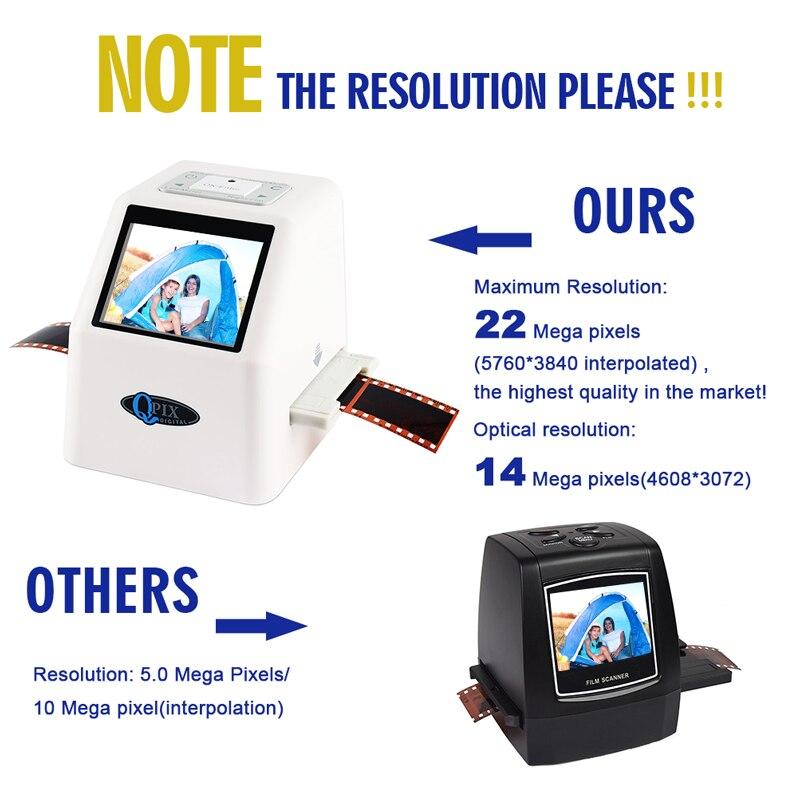 "Image 2 - 35mm Film Scanner 22 Mega Pixels Negative Slide Scanner 110 135 126KPK Digital Film Converter with 2.4""LCD Support Russian-in Scanners from Computer & Office"