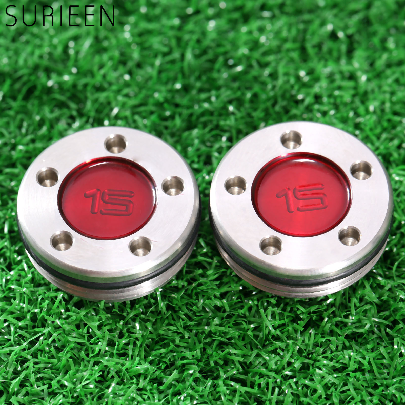 High Quality 2pcs/ Pair Red Stainless Steel Golf Putter Weight Screws Golf Weights 5g 10g 15g 20g New Arrivel Golf Training Aids