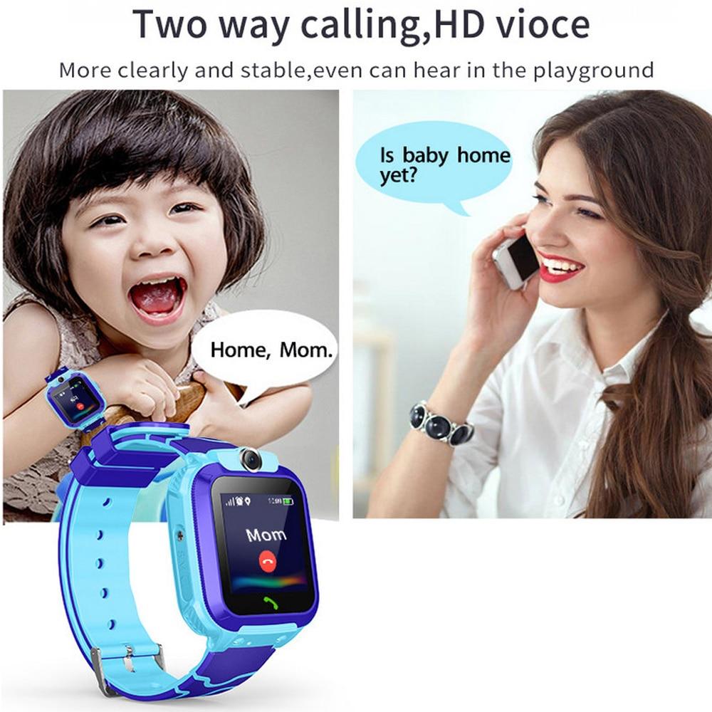 Q12 Waterdichte Kinderen Slimme Horloge Sos Antil-Verloren Smartwatch Baby 2G Sim-kaart Klok Oproep Locatie Tracker Smartwatch pk Q50 Q90 5