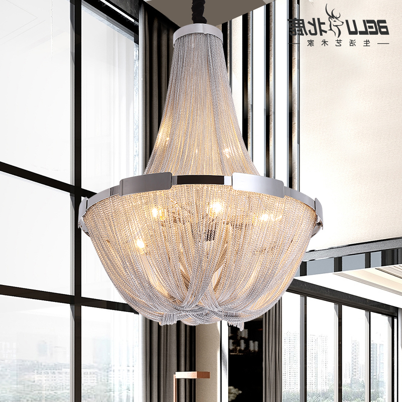 Nordic Aluminum Chain Pendant Light Romantic Atmosphere Bedroom Restaurant Kitchen Hanging Light Deco Maison