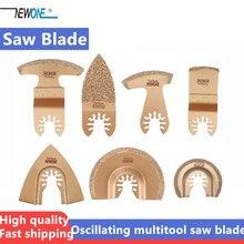 Lâmina de serra osciladora de carboneto, para a maioria das marcas de ferramenta elétrica multifuncional, corte de articulações defeitas