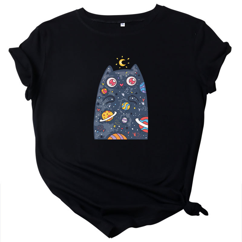 Plus Size S-5XL New Print T Shirt Women 100% Cotton O Neck Short Sleeve Summer T-Shirt Tops Casual Tshirt Women Shirts