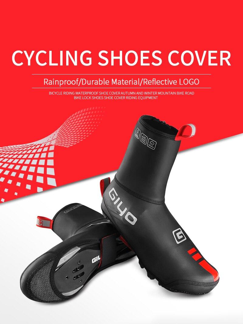 Waterproof Windproof Fleece Cycling Road bike Lock Shoes Covers Thermal Bicycle