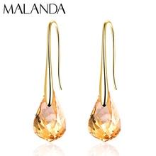 Brincos pendurados de cristal originais, brincos femininos de cristal da moda, pingente de helix swarovski, presente de joias