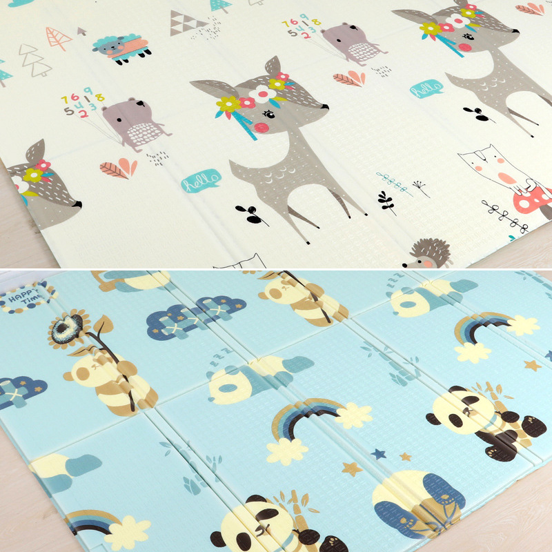 Large Size Foldable Cartoon Baby Play Mat Xpe Puzzle Children's Mat Baby Climbing Pad Kids Rug Baby Games Mats Toys For Children 3