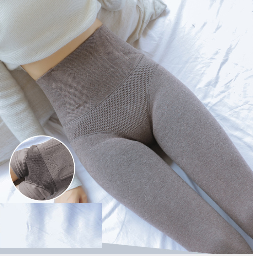 Womens Autumn//Winter Thick Vertical Striped Pattern Warm Pantyhose Tights