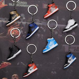 Drop shipping Sneakers AIR Banned AJ1 come back to future 3D mini Sneaker shoes keychain