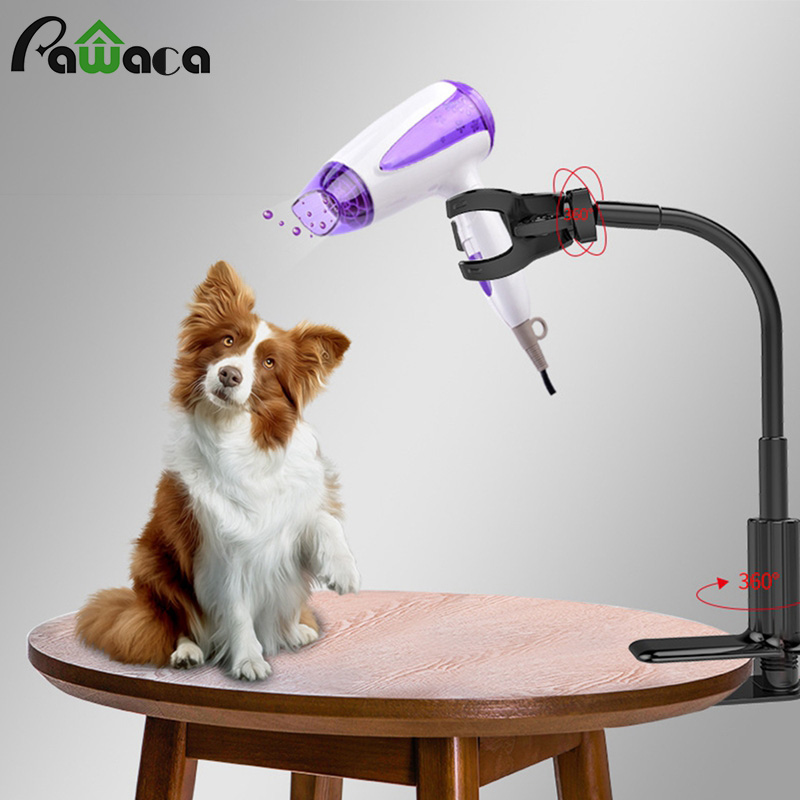 Pet Hair Dryer Stand Fixed Bracket 360 Degree Rotating Freely Retractable Rack Convenient  Free Hands Care Accessories For Dog C