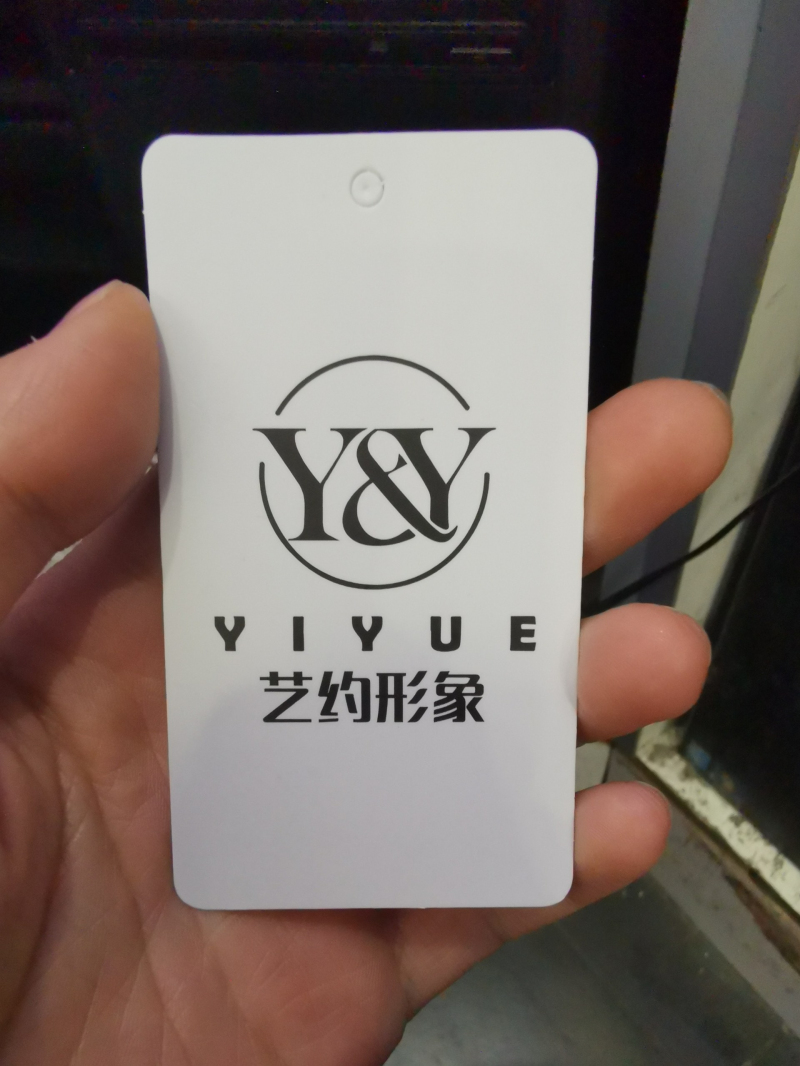 Customized Printing 25*75mm 400G Coated Paper Card Hang Tag