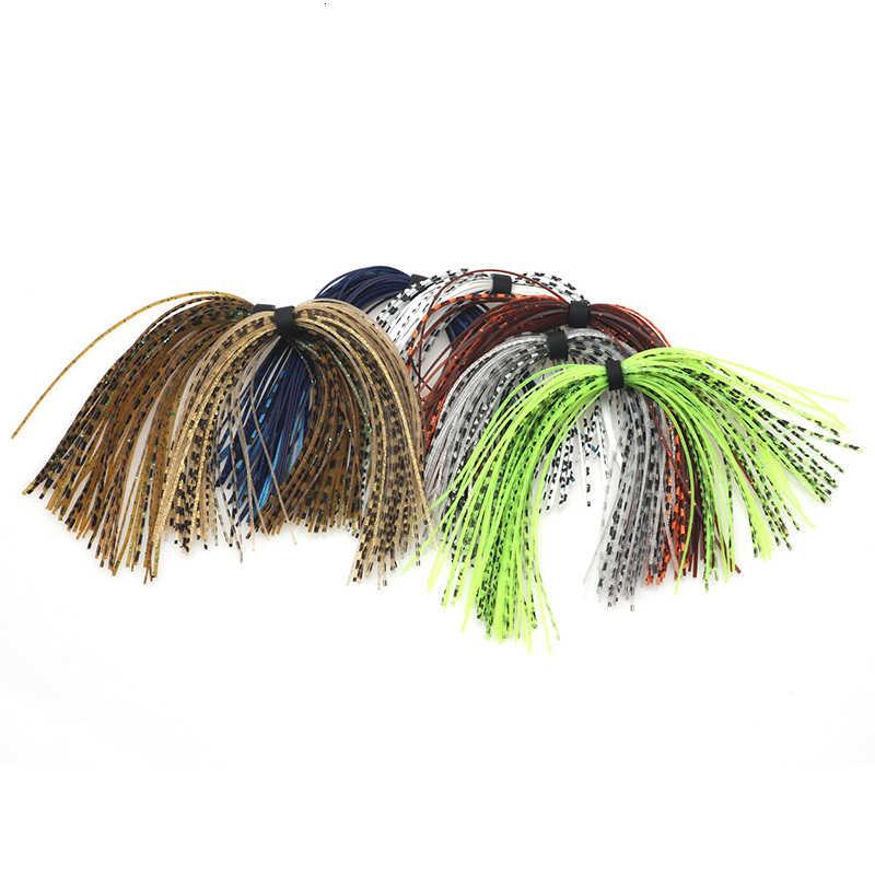 Rompin 7 バンドルミックス色餌魚シリコーンスカート層スピナーベイト Buzzbait ラバージグルアーイカスカート Fly タイイング素材