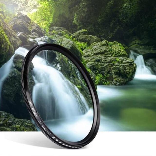 Dynamic ND2-400 Filter 52MM 58MM 62MM 67MM 72MM 77MM Slim Fader Variable ND Lens Filter Adjustable ND2 to ND400 Neutral Density