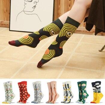 Nuestros tanques 2020 nuevos calcetines de las mujeres otoño/invierno nuevo Color verde Monroe francés moda fresca calcetines de dibujos animados calcetines de las mujeres