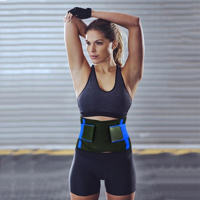 Adjustable Waist Back Support Waist Trainer Trimmer Belt Sweat Utility Band for Sport Gym Fitness Weightlifting Tummy Slim Belts 5
