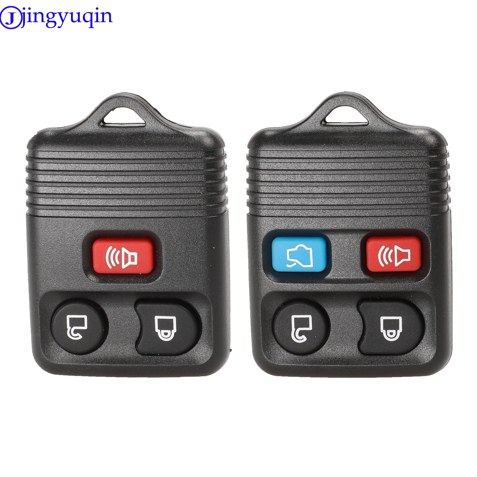 jingyuqin 3/4 Buttons Remote Key Shell Case Fob Cover For Ford Mustang Focus Lincoln LS Town Car Mercury Grand Marquis Sable