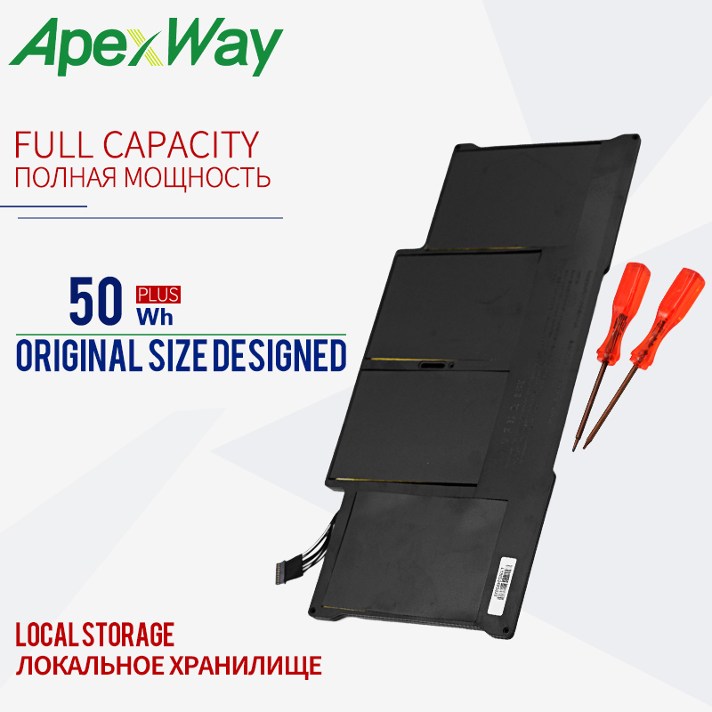 ApexWay Original battery For MacBook Air 13 Model A1369 Mid 2011, A1466 A1405 Battery 020 7379 A MC965 MC966 MD231 MD232 20