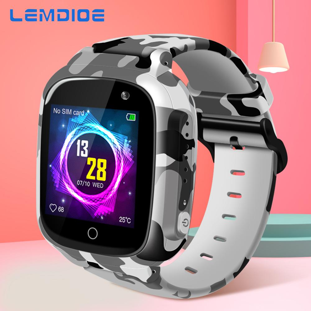 LEMDIOE 2019 600mAH Long standby time Kids smart watch baby with gps wifi sos IP67 waterproof for children|Smart Watches|   - AliExpress