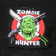 Pulaqi Zombie Hunter Patch Iron-On Clothing Patches Embroidered For Biker Clothes Badges